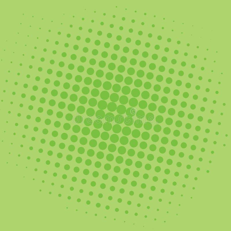 Design för mall för vektor för popArt Lime Green Dots Comic bakgrund royaltyfri illustrationer