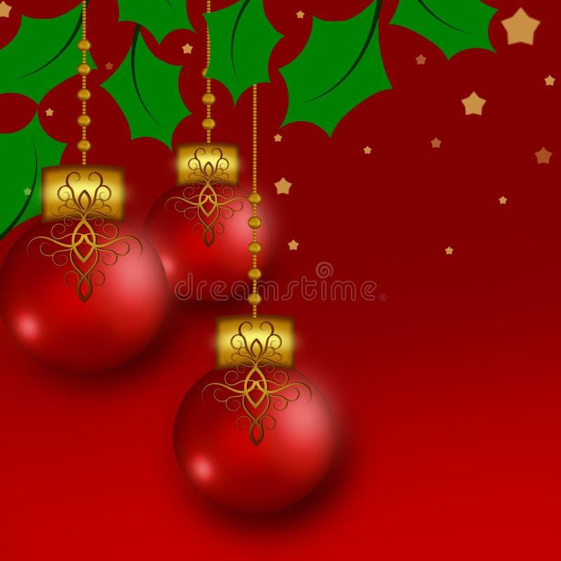 Design för mall för julkulaillustrationer vektor illustrationer