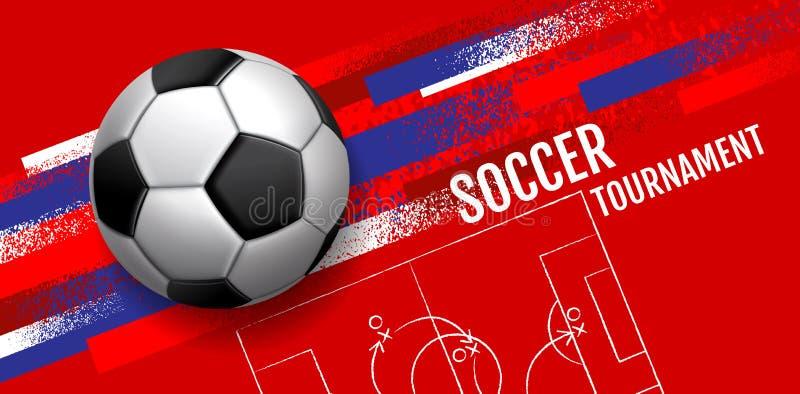 Design för mallsportorientering, grungedesign, borste, hastighet, grafisk illustration, fotboll, fotboll, vektorillustration stock illustrationer