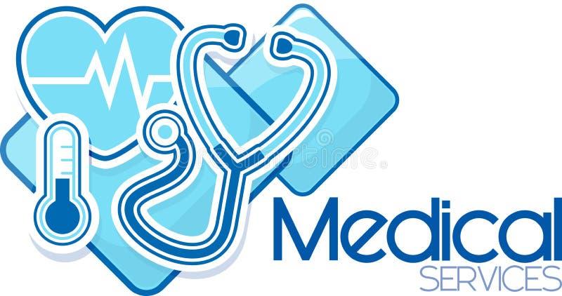 Design för medicinsk service vektor illustrationer