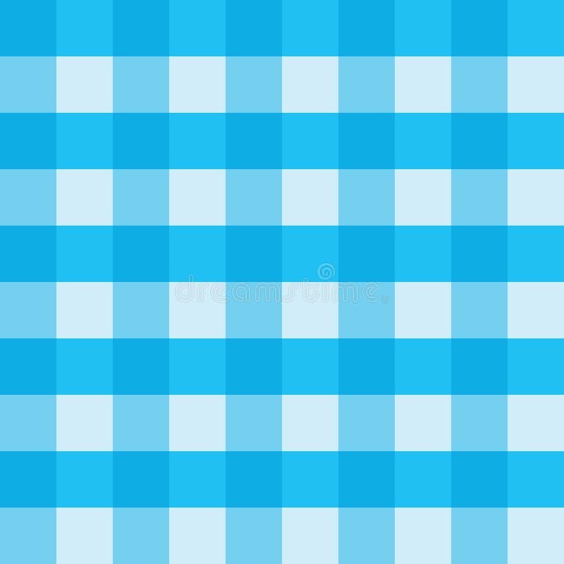 Design för modell för bakgrund för vektor för blå ginghambordduk sömlös vektor illustrationer