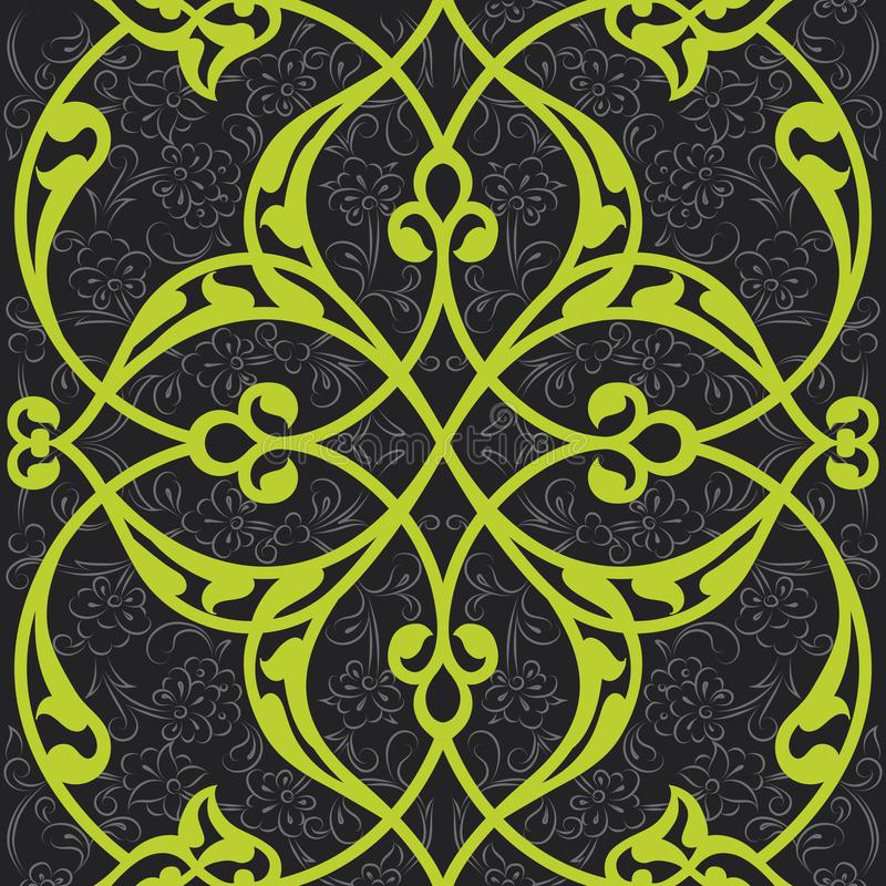 Design för modell för Iznik tegelplatta sömlös, turkisk st för klassisk ottoman stock illustrationer