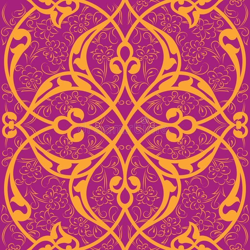 Design för modell för Iznik tegelplatta sömlös, turkisk st för klassisk ottoman royaltyfri illustrationer