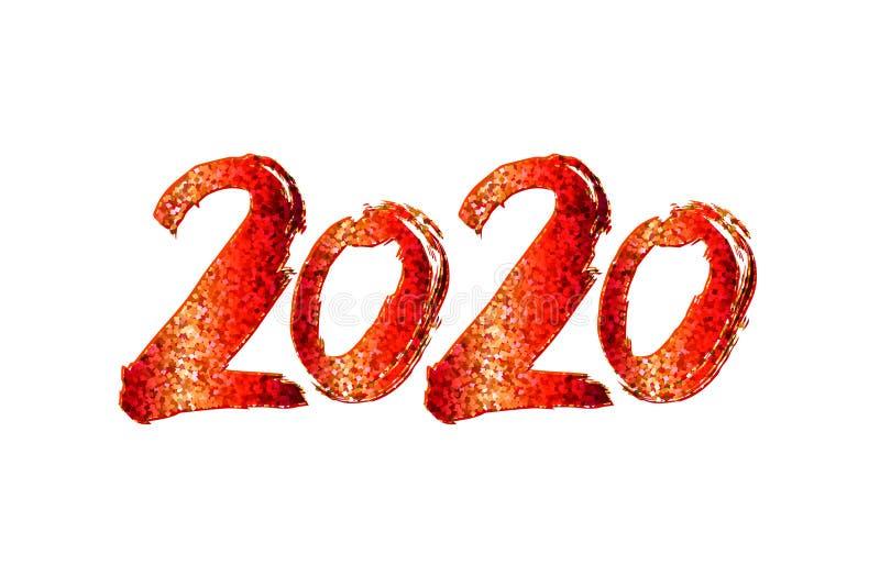 Design för nytt år 2020 royaltyfria bilder