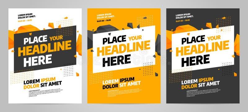 Design för orienteringsaffischmall för sporthändelse