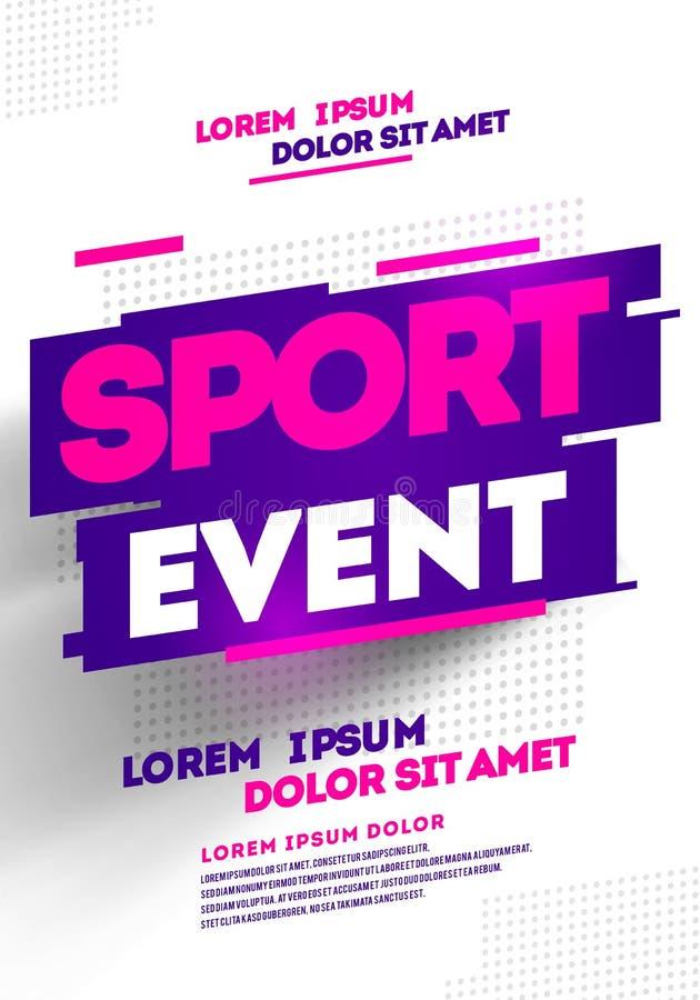 Design för orienteringsaffischmall för sporthändelse, turnering eller mästerskap vektor illustrationer