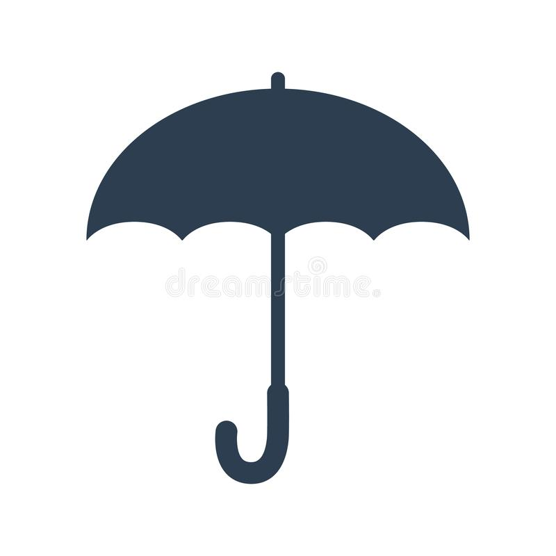 Design för paraplysymbolslägenhet vektor illustrationer