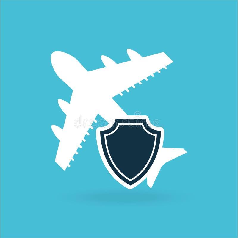 design för pengar för försäkringflygplanflygplats royaltyfri illustrationer