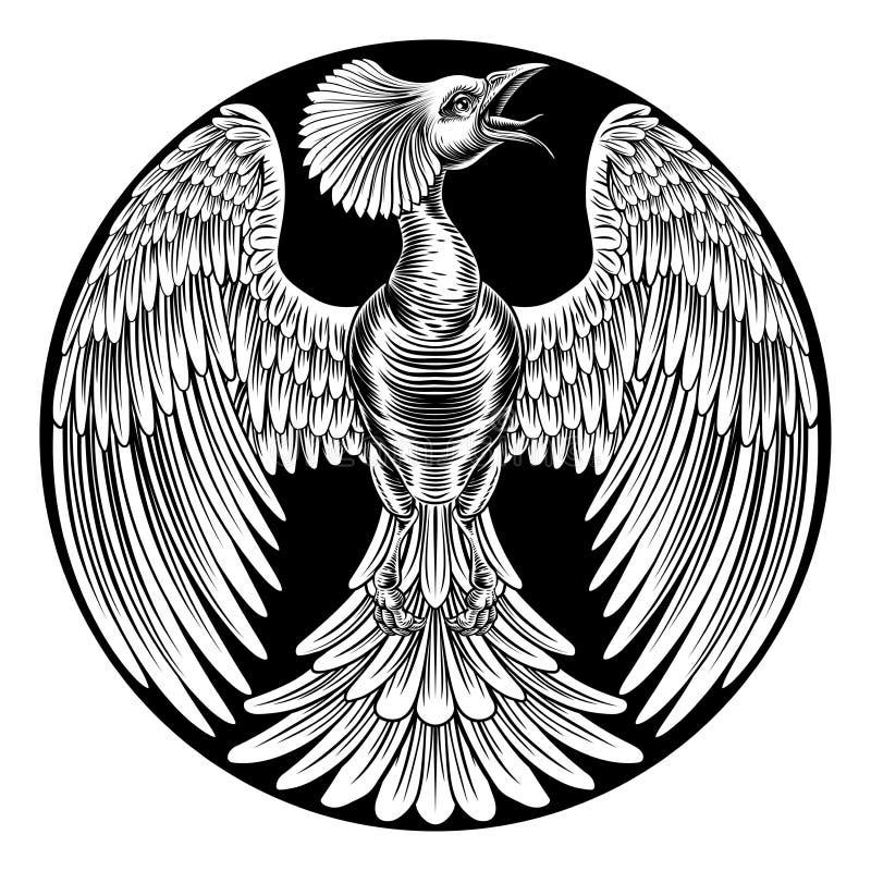 Design för Phoenix brandfågel stock illustrationer