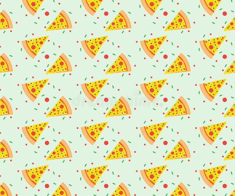 Design för pizzamodellvektor royaltyfri illustrationer