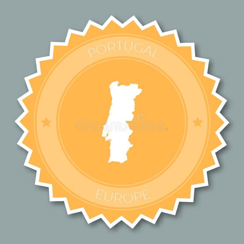 Design för Portugal emblemlägenhet stock illustrationer