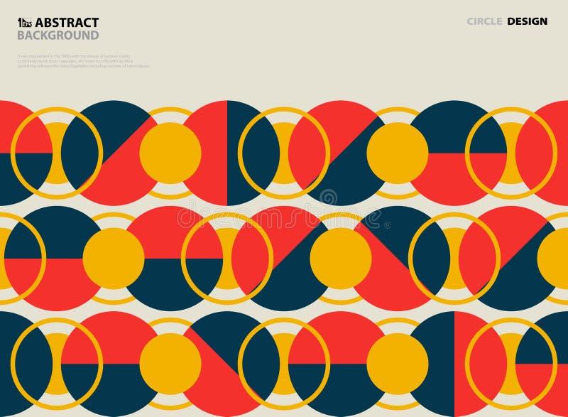 Design f?r r?kning f?r modell f?r abstrakt cirkel f?r tappning f?rgrik rund Illustrationvektor eps10 vektor illustrationer