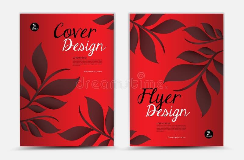 Design för räkningsvektormall, affärsbroschyrreklamblad, bladbakgrund vektor illustrationer