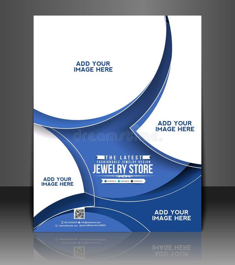 Design för reklamblad för smyckenlager vektor illustrationer