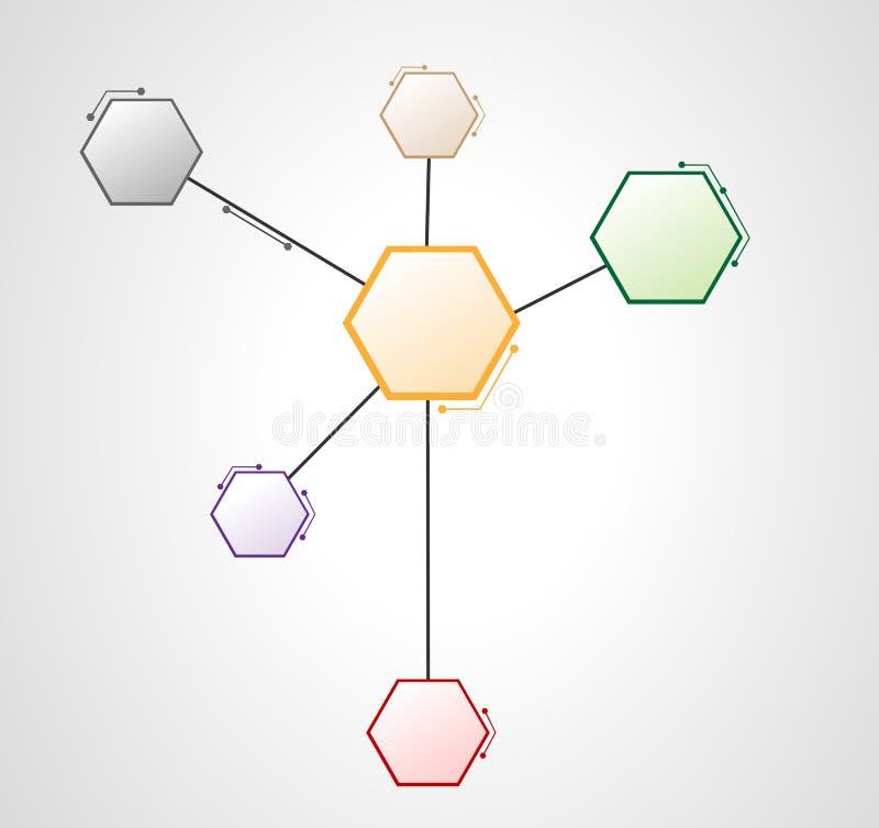 Design för rengöringsduk för DNAmolekylsexhörning stock illustrationer