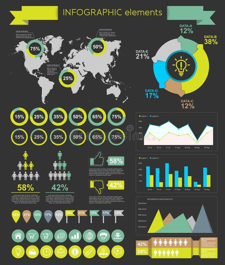 Design för rengöringsduk för Infographic beståndsdelmall vektor illustrationer