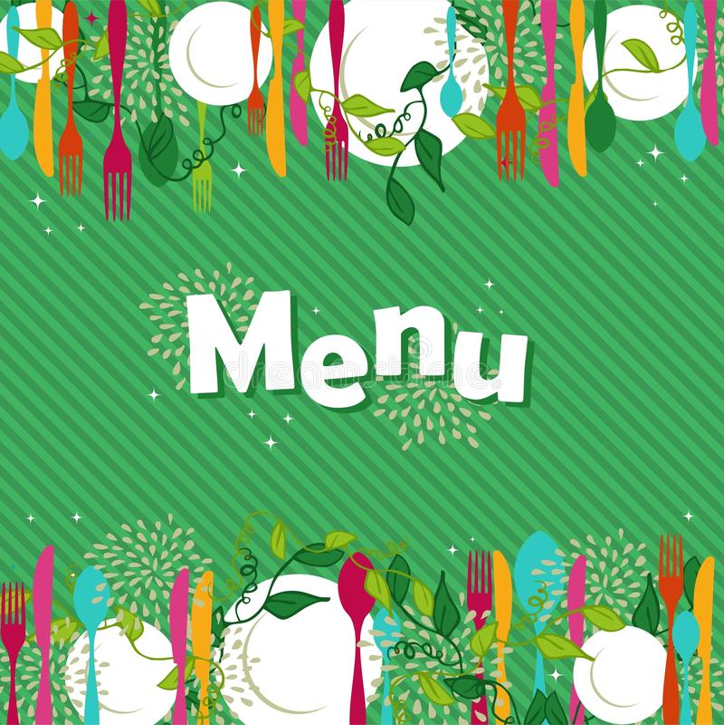 Design för restaurangmatmeny royaltyfri illustrationer