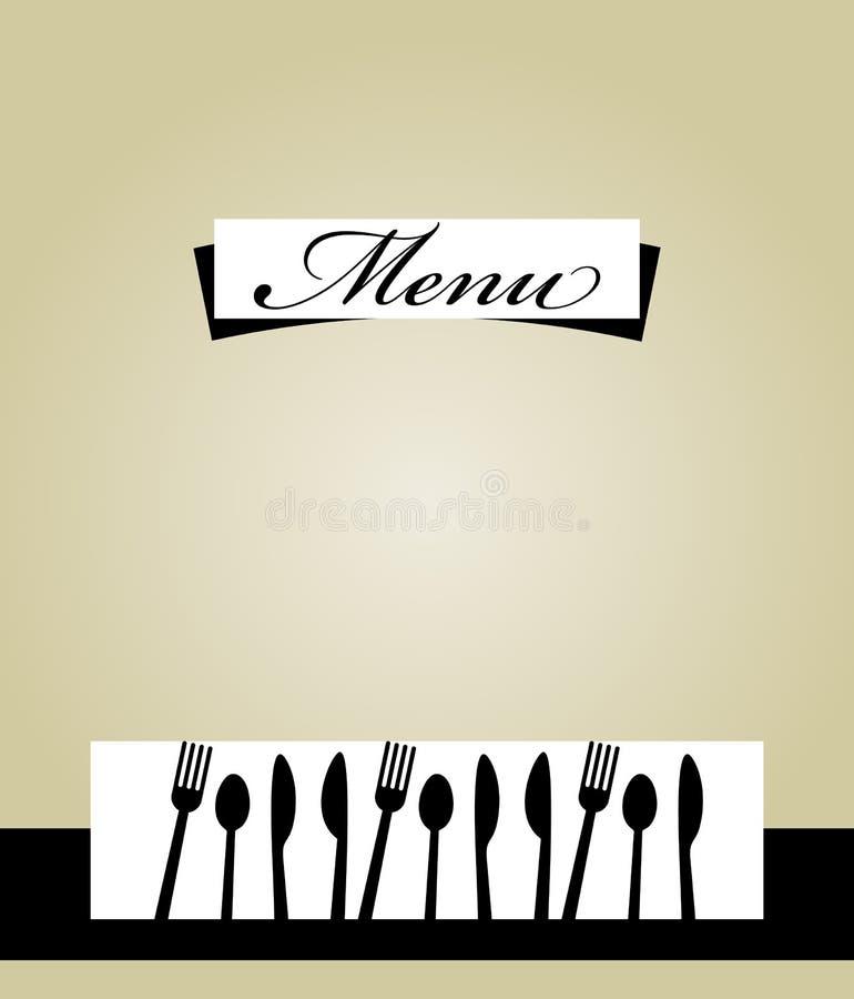 Design för restaurangmenymall stock illustrationer