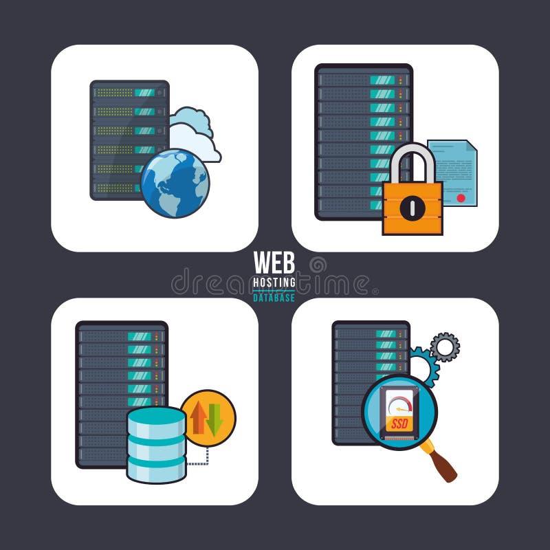 Design för säkerhet rengöringsdukför vara värd och data vektor illustrationer