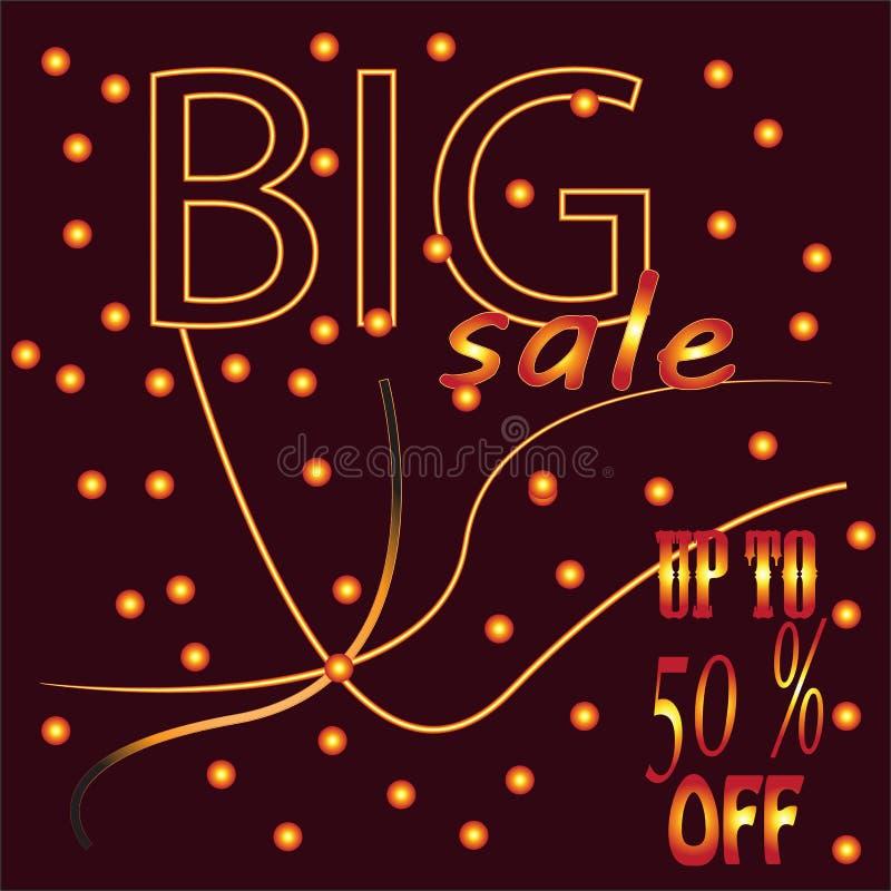 Design för Sale banermall, stor försäljningssakkunnig upp till 50% av ocks? vektor f?r coreldrawillustration royaltyfri illustrationer