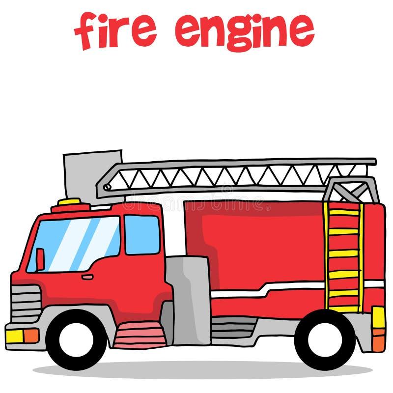 Design för samling för trans. för brandmotor royaltyfri illustrationer