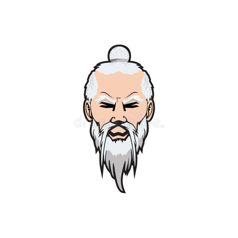 Design för Sensei teckenlogo royaltyfri fotografi
