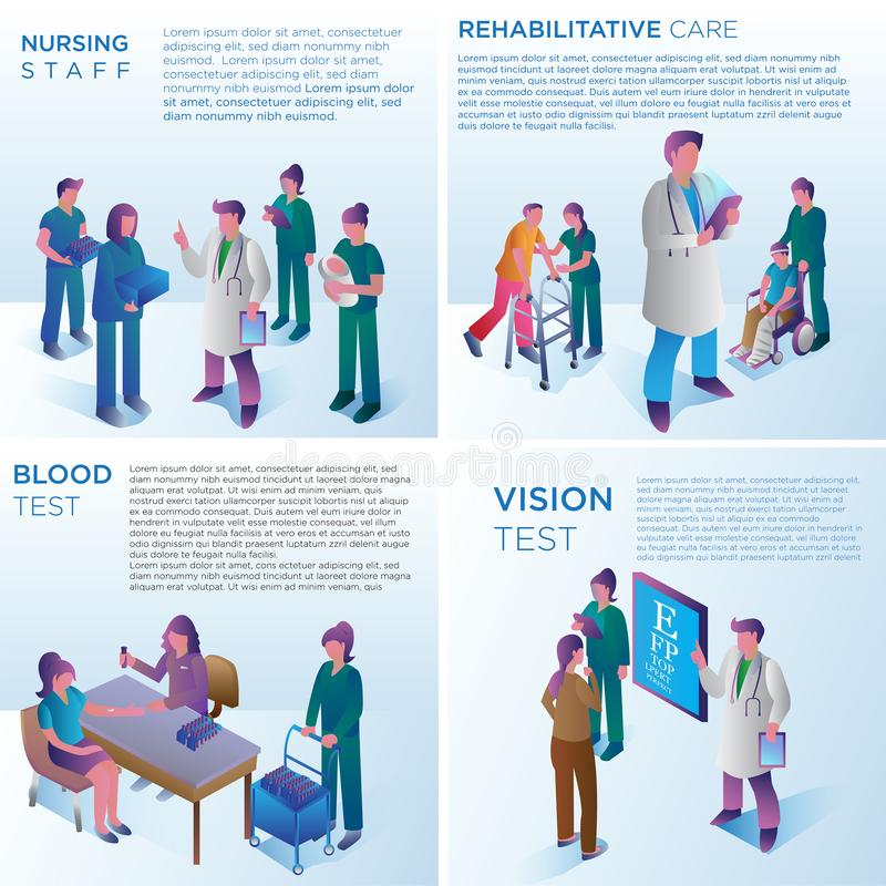Design för sjukhusservicevektor stock illustrationer