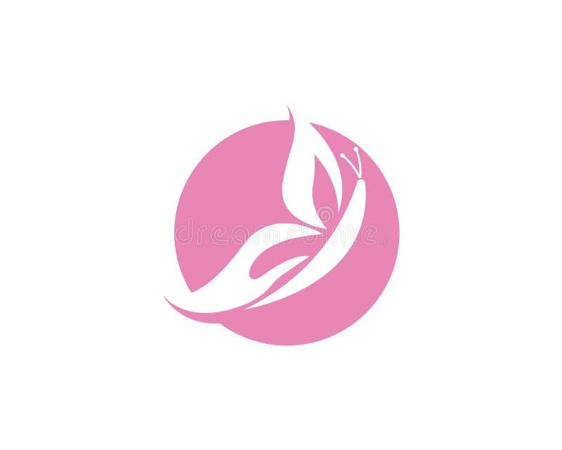 Design för skönhetfjärilsLogo Template Vector symbol vektor illustrationer