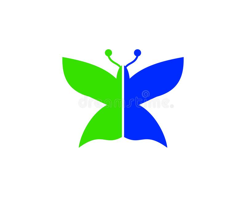 Design för skönhetfjärilsLogo Template Vector symbol royaltyfri illustrationer