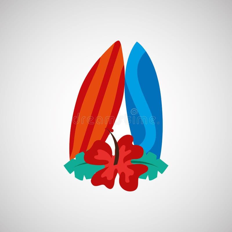 Design för sommarsemestrar stock illustrationer