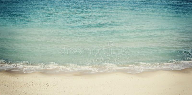 Design för strand- och havslandskapwebsitebaner arkivfoto
