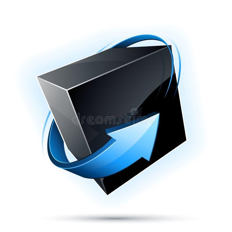design för svart ask royaltyfri illustrationer