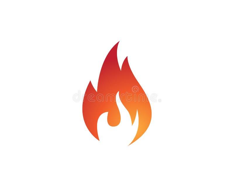 design för symbol för brandflammavektor stock illustrationer
