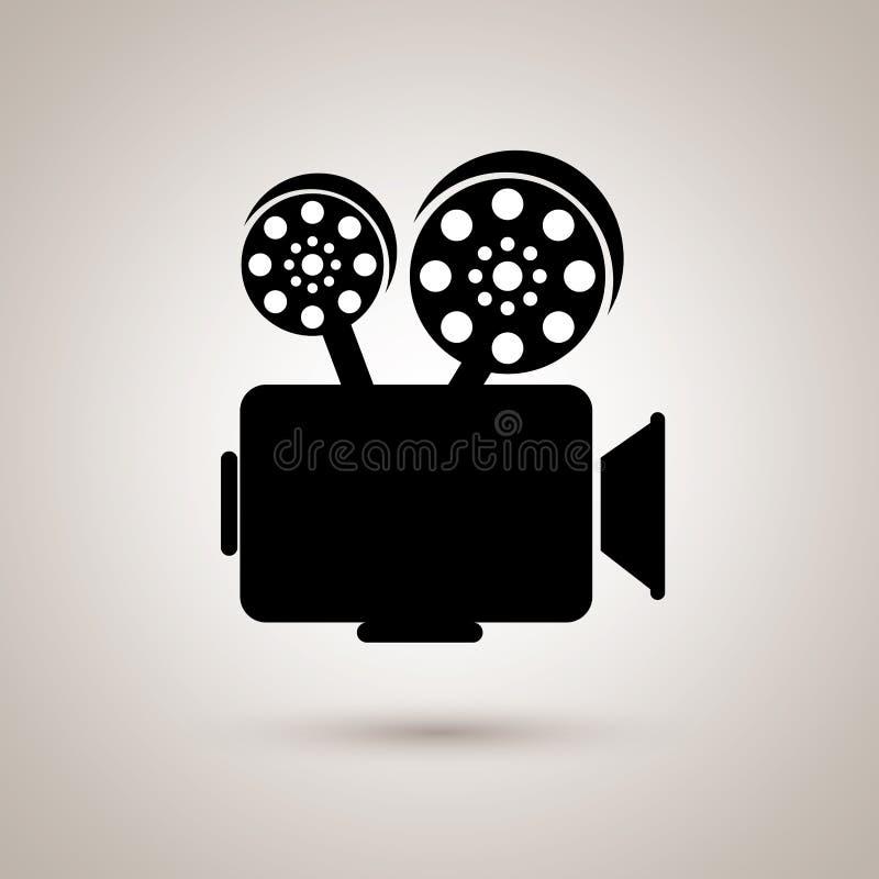 design för symbol för lägenhet för filmbransch royaltyfri illustrationer