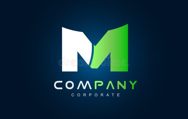 Design för symbol för logo för alfabetbokstav M stock illustrationer