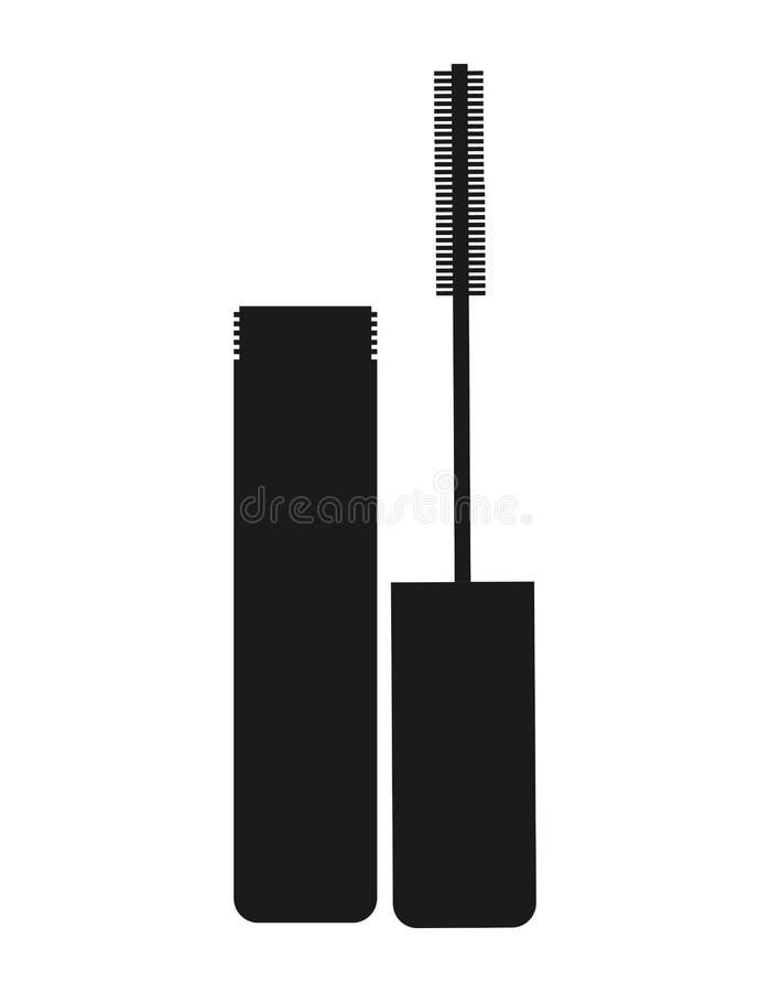design för symbol för maskaramakeupprodukt isolerad stock illustrationer