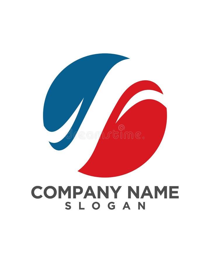 Design för symbol för s-bokstavsLogo Template vektor royaltyfri illustrationer