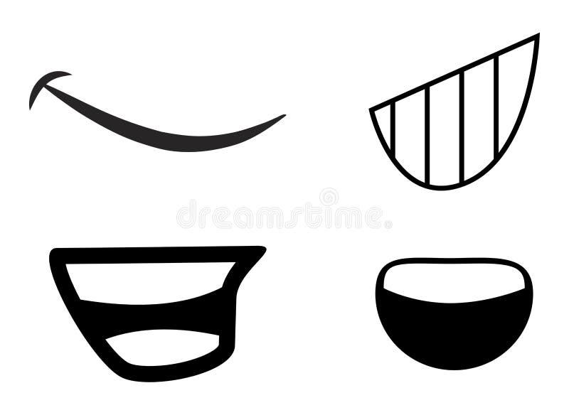 Design för symbol för symbol för tecknad filmmunvektor royaltyfri illustrationer