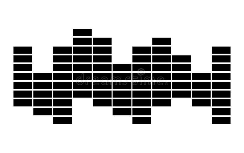 Design för symbol för symbol för vektor för solid våg för utjämnaremusik royaltyfri illustrationer