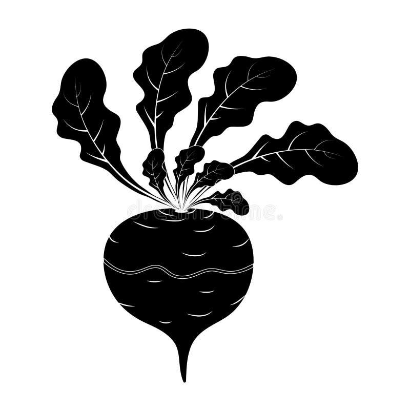 Design för symbol för konturrovatecknad film som isoleras på vit bakgrund vektor illustrationer