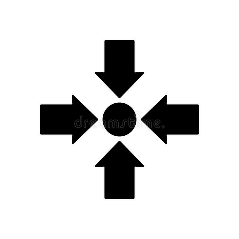 Design för symbol för mötepunkt också vektor för coreldrawillustration royaltyfri illustrationer