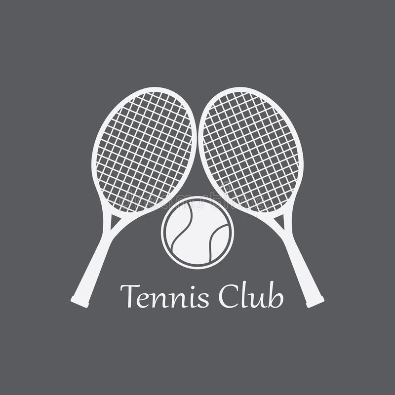 Design för symbol för tennissportlogo, emblemmall royaltyfri illustrationer