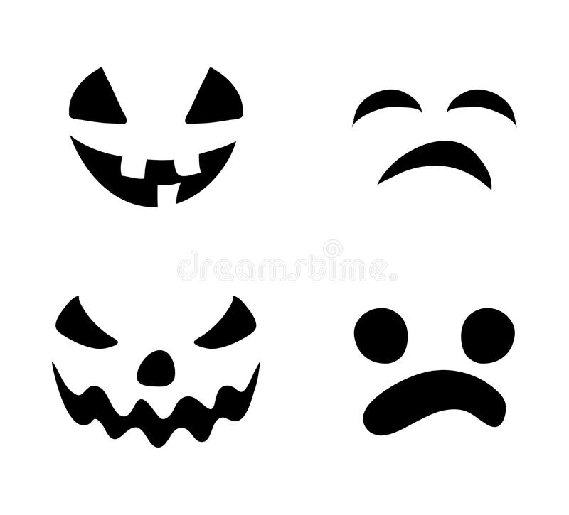 Design för symbol för symbol för vektor för kontur för leende för stålarnolla-lykta _ stock illustrationer