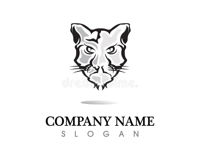 Design för symbol för vektor för tigerlogomall royaltyfri illustrationer