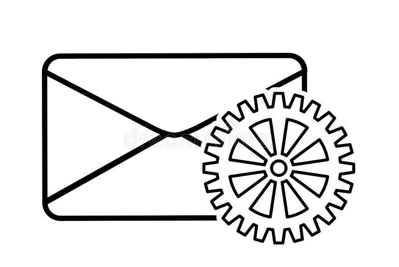 Design för system för säkerhet för kuvertkugghjulcyber vektor illustrationer