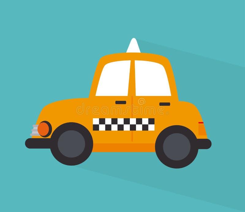 Design för taxitaxi stock illustrationer