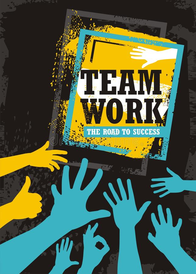 Design för teamworkaffärsbaner stock illustrationer