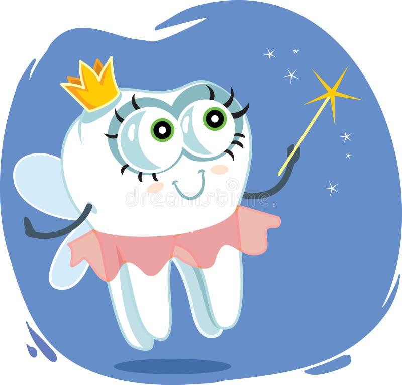 Design för tecknad film för vektor för tandfe royaltyfri illustrationer