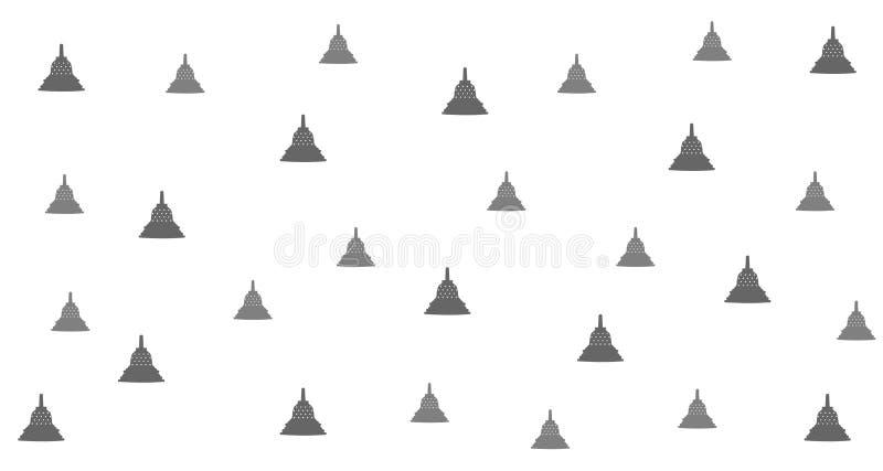 Design för tempelstilbakgrund, med abstrakt placering vektor illustrationer