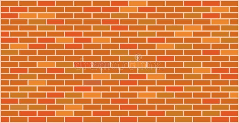 Design för textur för tegelstenvägg orange röd grafisk royaltyfri illustrationer